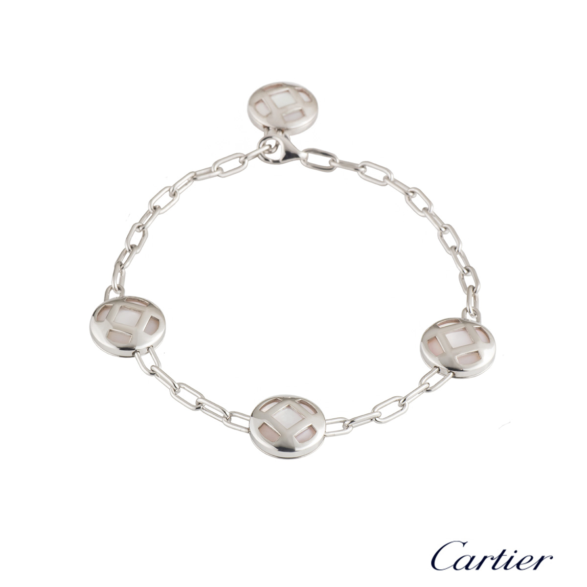 Cartier White Gold Mother of Pearl Pasha Bracelet